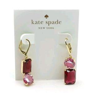 Kate Spade Pink/Red Mismatched Gem Earrings